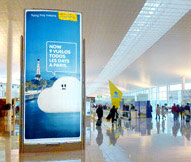 airport advertising in valladolid