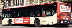 Autobuses advertising