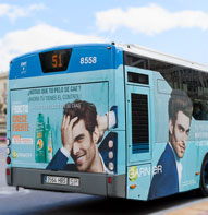 bus advertising in roquetas de mar