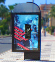 urban furniture advertising in barcelona