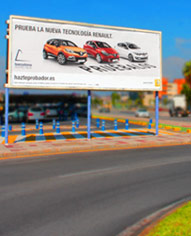 billboard advertising in malpartida de cáceres